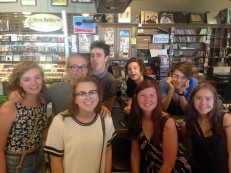 Me, Mia, Dan, and Iz with our favorite band Hippo Campus!