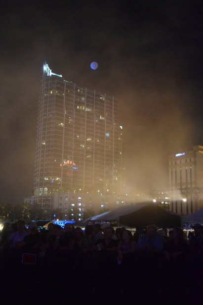 down town Tampa with the crowd, waitin' for MS MR to come on