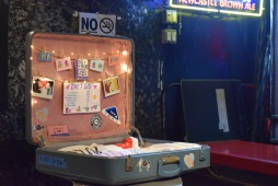 but how cute is Diet Cig's merch set-up!?